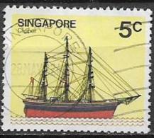 SINGAPORE 1980  NAVI YVERT. 335 USATO VF - Singapore (1959-...)