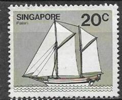 SINGAPORE 1980  NAVI YVERT. 338 USATO VF - Singapore (1959-...)