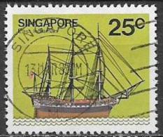 SINGAPORE 1980  NAVI YVERT. 339 USATO VF - Singapore (1959-...)
