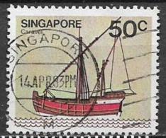 SINGAPORE 1980  NAVI YVERT. 341 USATO VF - Singapore (1959-...)
