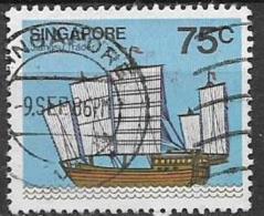 SINGAPORE 1980  NAVI YVERT. 342 USATO VF - Singapore (1959-...)