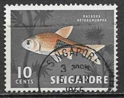 SINGAPORE COLONIA INGLESE 1962-68 YVERT 57 USATO VF - Singapore (1959-...)