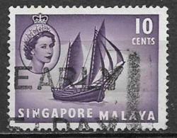 SINGAPORE COLONIA INGLESE 1955   SERIE ORDINARIA YVERT 34  USATO VF - Singapore (1959-...)