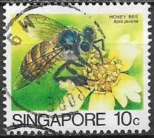 SINGAPORE  1985   SERIE ORDINARIA  INSETTI YVERT 456 USATO VF - Singapore (1959-...)