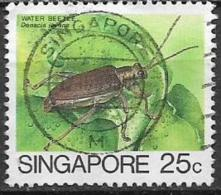 SINGAPORE  1985   SERIE ORDINARIA  INSETTI YVERT 459 USATO VF - Singapore (1959-...)