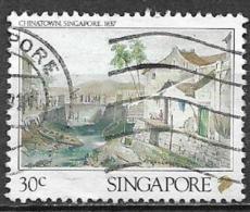 SINGAPORE  1990 LITOGRAFIE DI SINGAPORE YVERT 570 USATO VF - Singapore (1959-...)