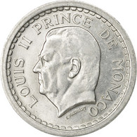 Monnaie, Monaco, Louis II, 2 Francs, Undated (1943), Poissy, SUP, Aluminium - Monaco