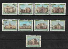 Russia/USSR 1955,9 Stamps Soviet Pavilions Soviet ВДНХ/VDNKh,Scott # 1770//85,VF Used (RU-3) - Factories & Industries