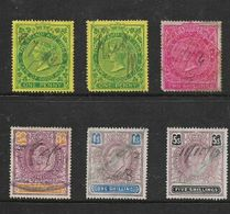South Africa , Cape Of Good Hope, Victoria / EVIIR, 6 Revenue Stamps Used - South Africa (...-1961)