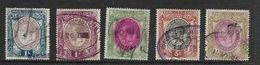 South Africa ,GVR, Large Heads, 1913, 5 Stamps To 10/-, Used - Zuid-Afrika (...-1961)