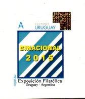 """Uruguay 2015 **  """"Mi Sello"""" Exposicion Filatelica Uruguay - Argentina. Banderas - Holograma. - Uruguay"""