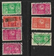 South Africa ,GViR, 1943 -1946, Bantams, War Effort, 7 Stamps 3d - £1, Used - Zuid-Afrika (...-1961)