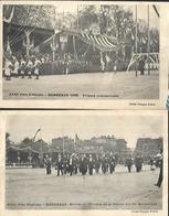 Fête Fédérale  Bordeaux  1905  Tribune Présidentielle Et Arrivée Du Ministre De La Guerre - Manifestations