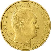 Monnaie, Monaco, Rainier III, 10 Centimes, 1962, TTB, Aluminum-Bronze - Mónaco