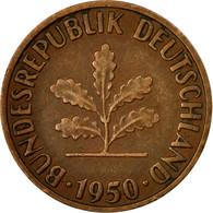 Monnaie, République Fédérale Allemande, 2 Pfennig, 1950, Stuttgart, TTB - [ 7] 1949-… : FRG - Fed. Rep. Germany