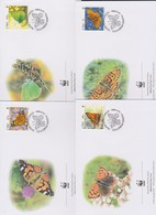 World Wide Fund For Nature 2005 Ireland- Butterflies,Set 4 Official First Day Covers - FDC