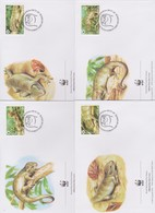 World Wide Fund For Nature 2005 Solomon Island- Skinks ,Set 4 Official First Day Covers - FDC