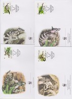 World Wide Fund For Nature 2005 Vietnam - Owston Banded Civet ,Set 4 Official First Day Covers - FDC