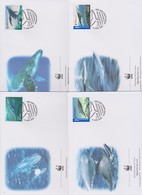 World Wide Fund For Nature 2006 Australia- Whales Down Under ,Set 4 Official First Day Covers - FDC