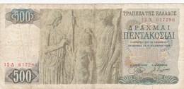 Grèce - Billet De 500 Drachmes - 1er Novembre 1968 - Grèce