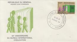 Enveloppe  FDC  1er  Jour   SENEGAL   50éme  Anniversaire  Du  Bureau  International  D' Education   1979 - Sénégal (1960-...)