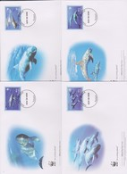 World Wide Fund For Nature 2006 Tuvalu -Pigmy Killer Whale ,Set 4 Official First Day Covers - FDC