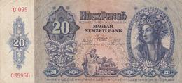 Hongrie - Billet De 20 Pengo - 15 Janvier 1941 - Hungary