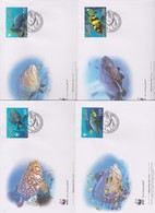 World Wide Fund For Nature 2006 Vanuatu - Giant Grouper,Set 4 Official First Day Covers - FDC