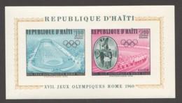Haïti  1960  Jeux Olympiques De Rome: Stade, Défilé Des Athlètes Bloc Feuillet  ** - Sommer 1960: Rom