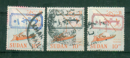 SUDAN / 1988 ? / SCOTT # 368C / MI # 432 V ( 1990 ) / 10 POUNDS OVER 10 PT IN BLUE - BLACK & RED ( INVERTED ) / VF USED - Sudan (1954-...)
