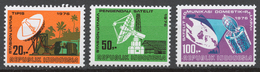Indonesia 1976 Mi# 843-45** INAUGURATION OF DOMESTIC SATELLITE SYSTEM - Indonesia