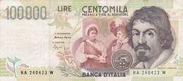 Italie - Billet De 100000 Lire - Caravaggio - 6 Mai 1994 - 100000 Lire