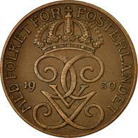 Monnaie, Suède, Gustaf V, 5 Öre, 1939, TTB, Bronze, KM:779.2 - Suède