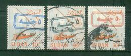 SUDAN / 1988 ? / SCOTT # 368 A / 5 POUNDS OVER 10 PT IN BLUE - BLACK & RED / VF USED - Sudan (1954-...)