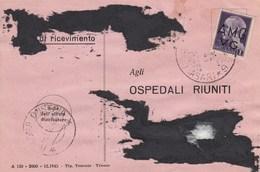 Trieste 1946 Postal Receipt Sent From Trieste (AMG VG, Zone A) To Zone B ALBONA D'ISTRIA Postmark (Labin) - 7. Trieste