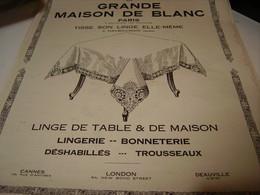 ANCIENNE PUBLICITE MAGASIN LA GRANDE MAISON DE BLANC PLACE OPERA 1922 - Affiches