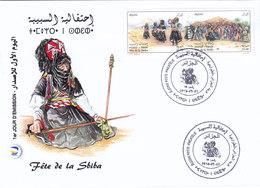 Algeria New Issue 2018, Festival Of Sbiba, 2v. Se Tenantn On OFFICIAL  FDC Dance, Music, SKRILL PAYMENT ONLY - Algeria (1962-...)
