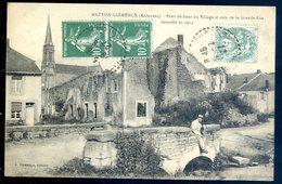 Cpa Du 08 Matton Clemency Pont Du Haut Du Village Et Coin De La Grande Rue Incendié En 1914    SEPT18-35 - France