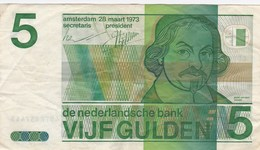 Pays-Bas - Billet De 5 Gulden - 28 Mars 1973 - J. Van Den Vondel - [2] 1815-… : Kingdom Of The Netherlands