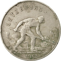 Monnaie, Luxembourg, Charlotte, Franc, 1953, B+, Copper-nickel, KM:46.2 - Luxembourg