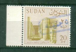 SUDAN / 1988 ? / SCOTT # 368 B / MI # 432 IV ( 1990 ) / 5 POUNDS OVER 20 PT IN BLUE  / MNH / VF - Sudan (1954-...)