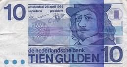 Pays-Bas - Billet De 10 Gulden - Frans Halls - 25 Avril 1968 - [2] 1815-… : Kingdom Of The Netherlands