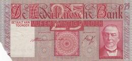 Pays-Bas - Billet De 25 Gulden - W.C. Mees - 25 Septembre 1940 - [2] 1815-… : Kingdom Of The Netherlands