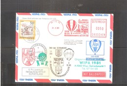 Österreich 1980 - Ballon Postflug - Pro Juventute Wipa 81 - Burgenland (to See) - Par Ballon