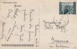 Istria 1946 Postcard With Istria And Slovenian Coast Stamp 2L, Postmark POSTOJNA - Yugoslavian Occ.: Istria