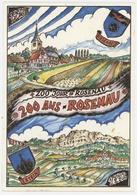 """Carte Souvenir """"200 Ans Rosenau"""" Village De La Plaine Du Rhin (1792-1992) - Autres Communes"""