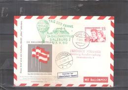 Österreich 1960 - Ballon Postflug  (to See) - Par Ballon