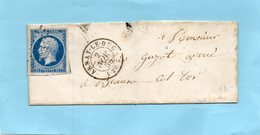 Cachet 15 ARNAY LE DUC (20)p.c.135 Sur N°14 I,L.S.C. Pour BEAUNE Le 2/11/55 - Postmark Collection (Covers)