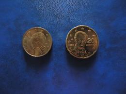 GREECE 2 COINS  FIRST EDITION 2002  0,10 & 0,20 CENT - Grèce