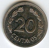 Equateur Ecuador 20 Centavos 1980 KM 77.2a - Equateur